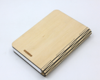 Book lamp in wood cover 2